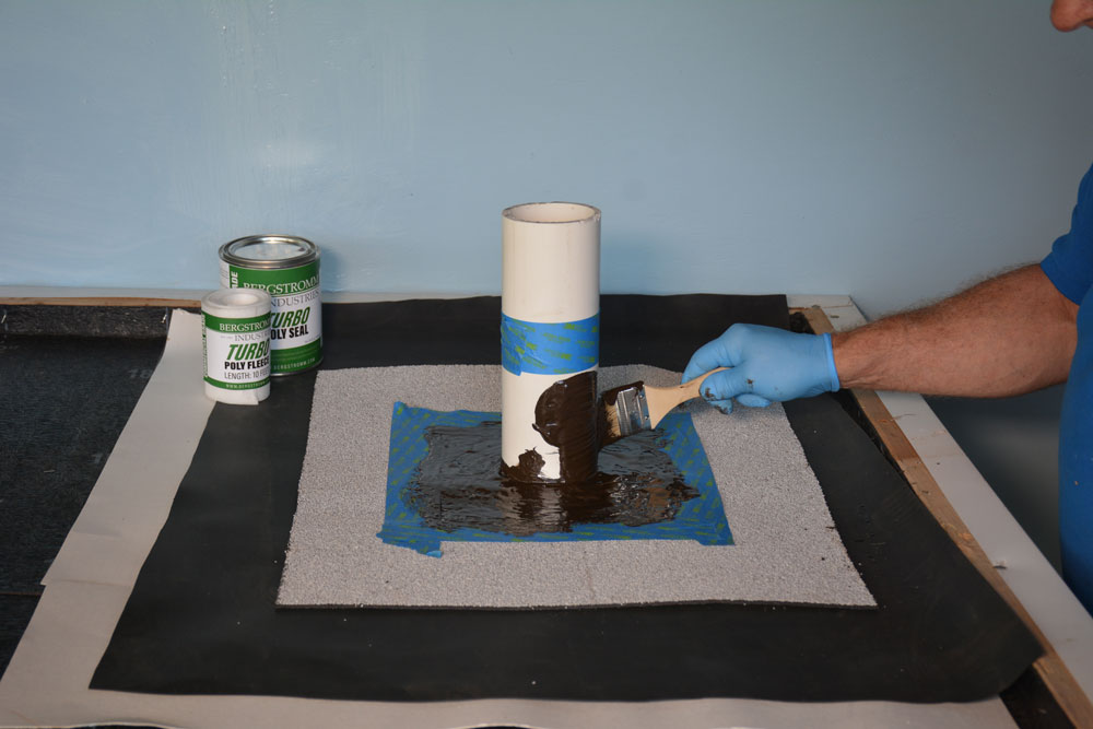 Turbo Poly Seal - paint 1st coat of resin to surface