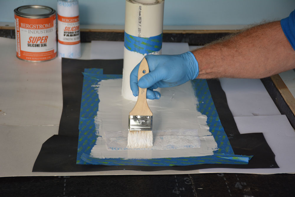 Install a fleece and then paint a final coat of Super Silicone Seal covering the fleece